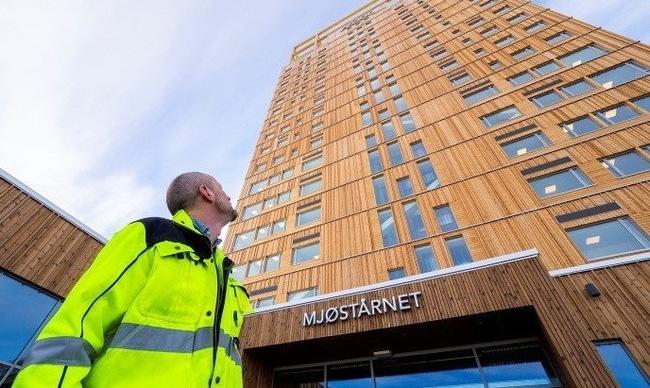 Установлен новый мировой рекорд для полностью деревянных зданий – норвежский «небоскреб» достиг высоты 85,4 метра Норвегия, Mjostarnet, Деревянный дом, Строительство, Длиннопост