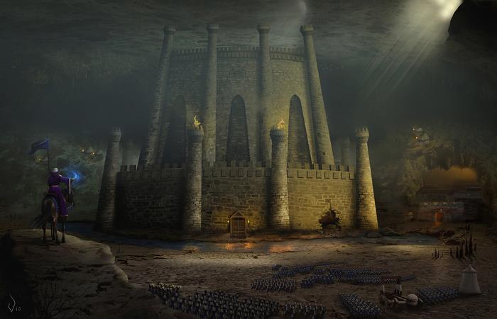 Взятие Темницы Герои меча и магии, Темница, Фотоарт, Vio, HOMM III