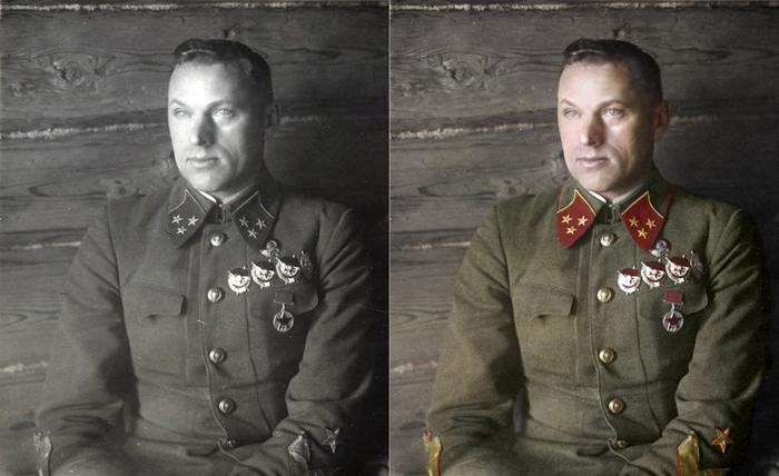 Моя колоризация Колоризация, Рокоссовский, Великая Отечественная война