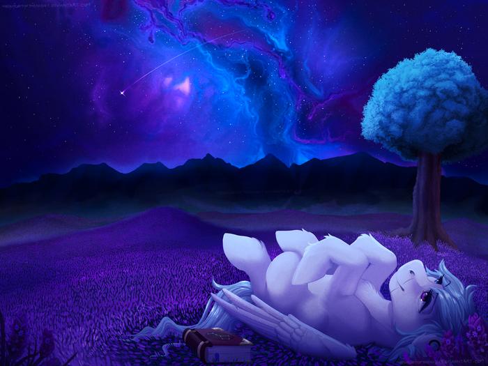 Stargazing My Little Pony, Original Character, Ночь, Небо, Звёзды, Туманность
