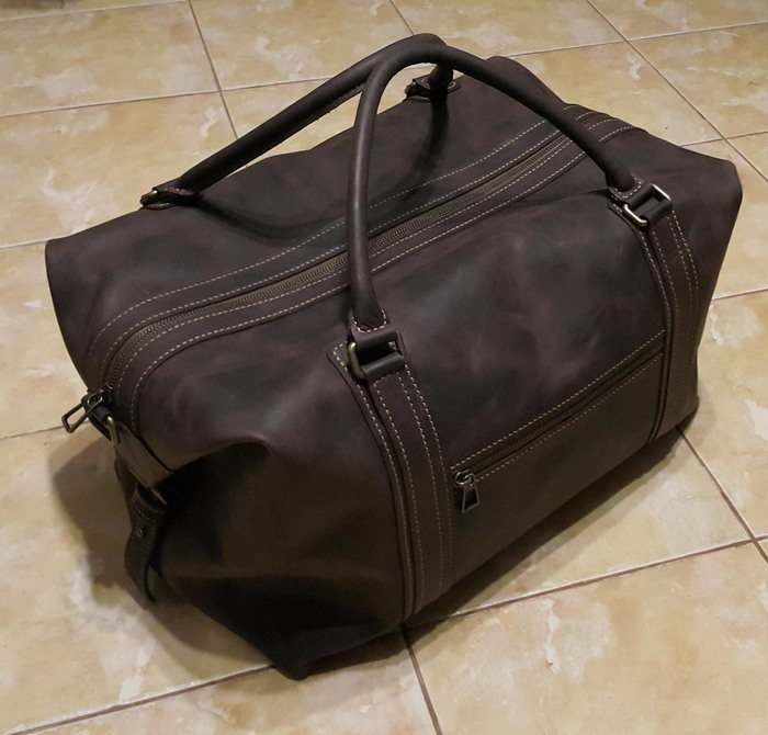 Дорожная сумка из кожи своими руками Кожа, Сумка, Своими руками, Длиннопост