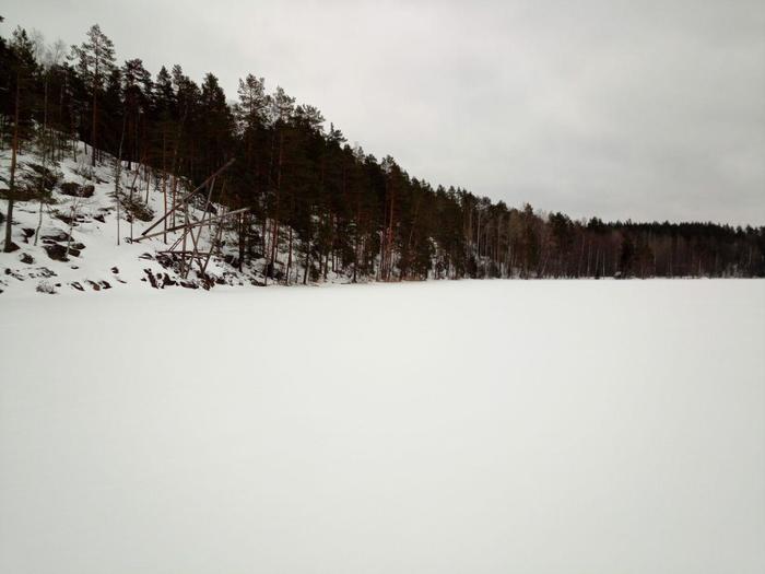 Зимние скалы. Туризм, Снег, Ястребиное, Гифка, Длиннопост, Карелия