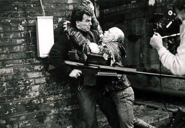 Фотографии со съёмок и интересные факты к фильму Робокоп 1987 год. Робокоп, Пол Верховен, Питер Уэллер, Знаменитости, Фото со съемок, 80-е, VHS, Длиннопост