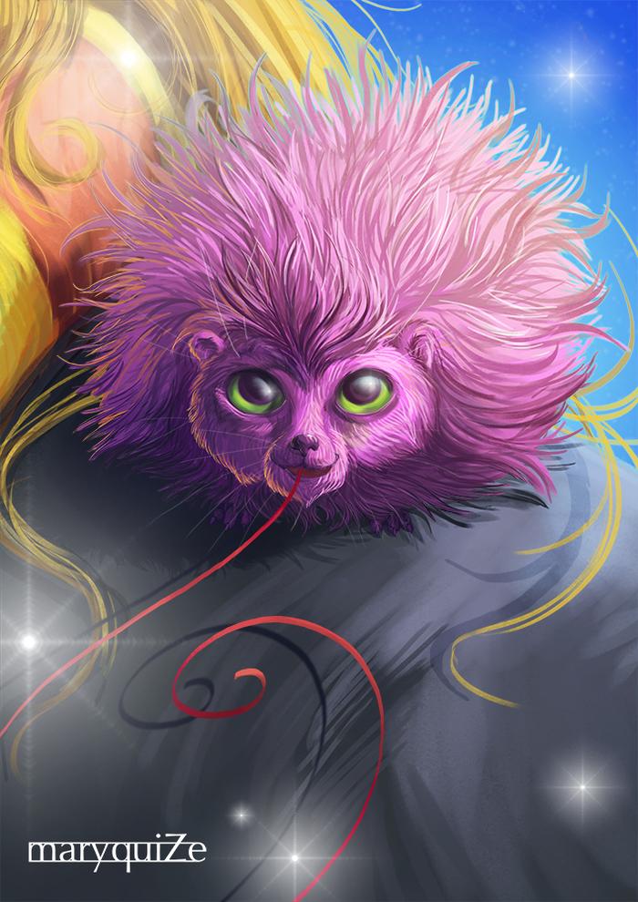 Карликовый пушистик Mary beasts, Гарри Поттер, Фан-Арт, Цифровой рисунок, Прогресс, Фантастические твари, Длиннопост