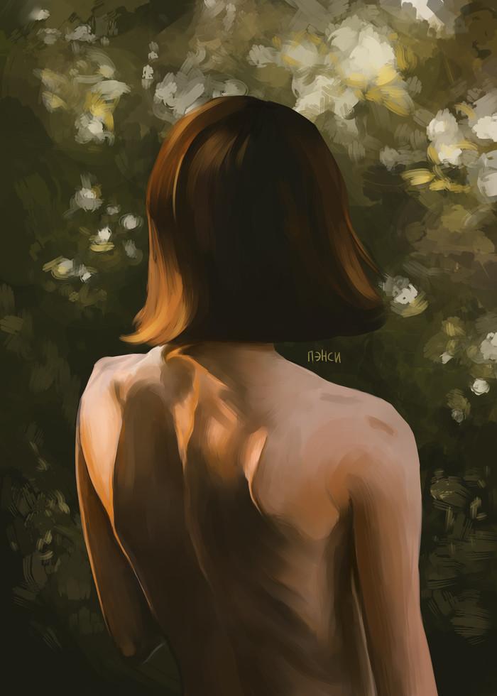 Эстетика женского тела Арт, Рисунок, Цифровой рисунок, Красивая девушка, Пэнси, Девушки, Обнаженка