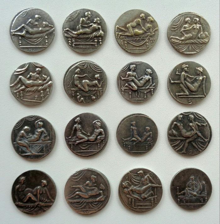 Спинтрии Старинные монеты, Древний Рим, Бунт, Лупанарий