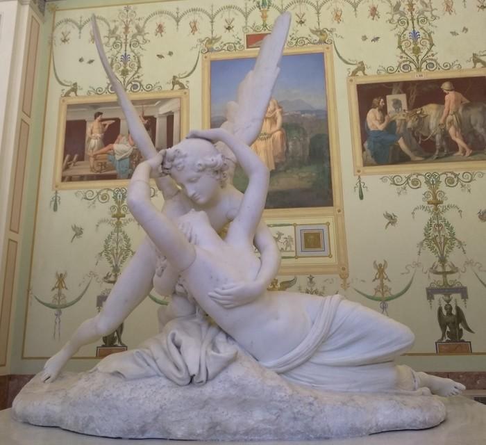 Поцелуй Амура и Психеи Антонио Канова, Амур и Психея, Скульптура