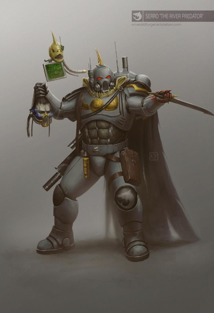 Сэрро Речной Хищник Imperium, Primaris Space Marines, Adeptus Astartes, Warhammer 40k, Carcharodons