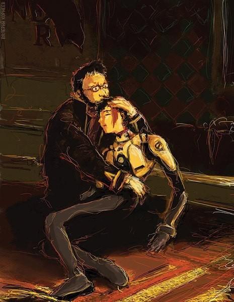 Гендо Икари убивает своего сына Арт, Пародия, Иван Грозный, Evangelion, Ikari Gendo, Икари Синдзи, Аниме, Картина