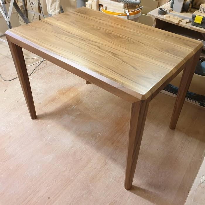Стол шпонированный американским ореÑом Мебель, Работа с деревом, Дизайн, Мастер, Длиннопост, Столярка