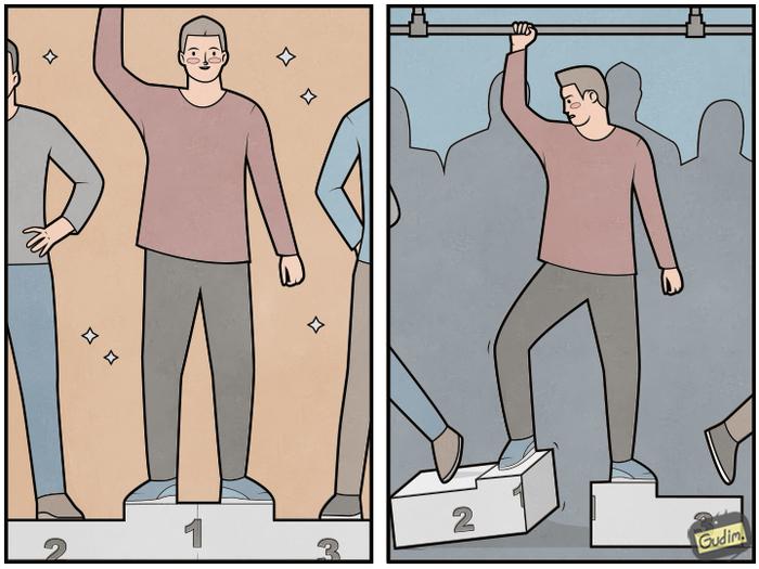 Победитель Gudim, Комиксы, Победа, Обувь, Абсурд