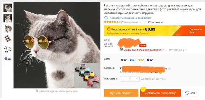 Когда коты круче тебя Кот, Очки, Aliexpress, Отзывы на Алиэкспресс