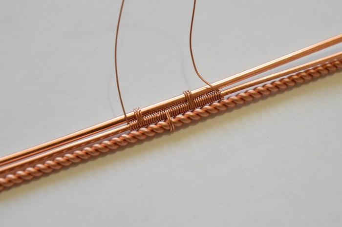 Мужской медный браслет. Handcraft, Wire wrap, Украшение, Рукоделие с процессом, Длиннопост