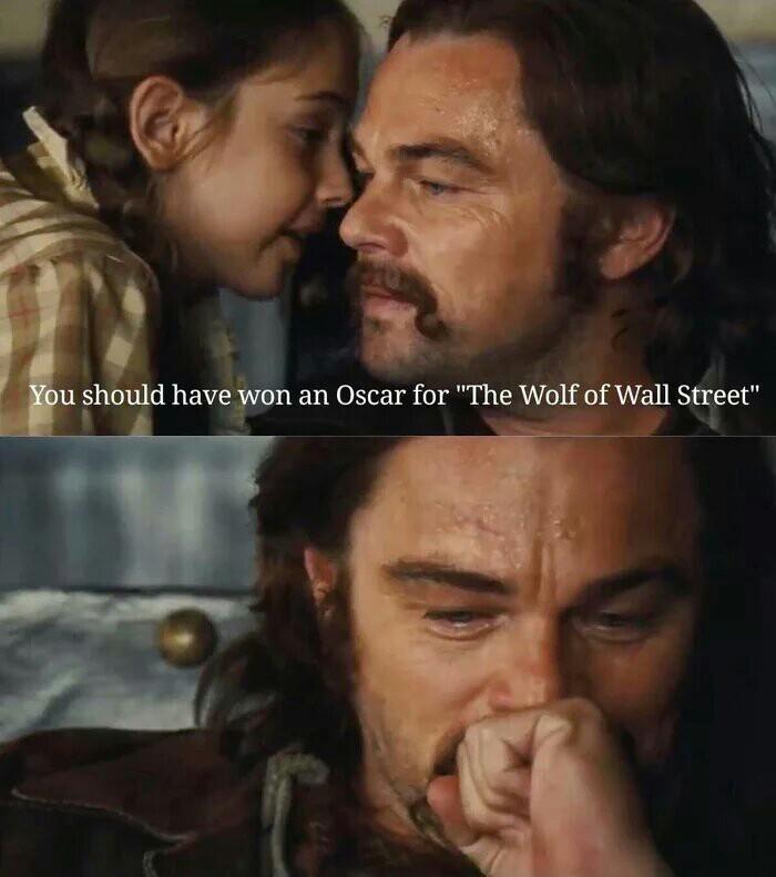 """Ты должен был получить Оскар,  еще за """"Волк с Уолл-Стрит"""