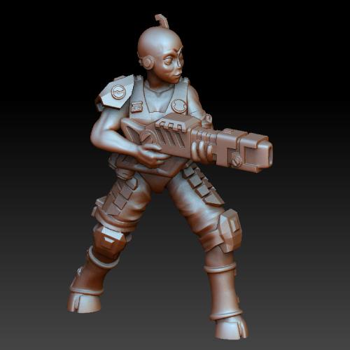 Пехотинец тау - 3д модель под печать. Миниатюра для настольных игр. Miniature, 3D, 3D печать, Warhammer 40k, Как играть в вархаммер, Wh Miniatures, Wh Art, Tau