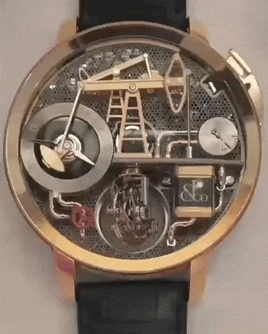 Необычный механизм часов