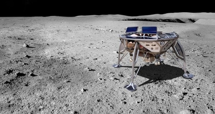 Израильский лунный аппарат заснял восход Солнца над Землей Луна, Берешит, Израиль, Земля, Солнце, Техника, Космос, Видео