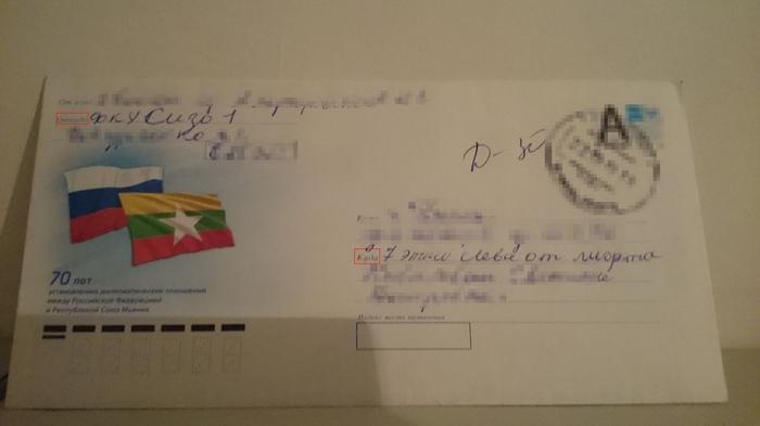 Письмо на деревню девушке. Письмо, Адрес