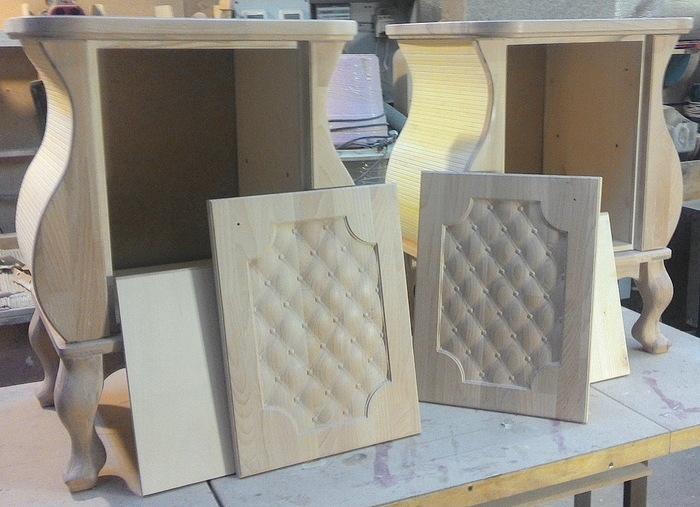 Тумбочки в нежных тонах из массива бука Тумбочка, Длиннопост, Изделия из дерева