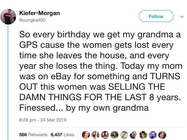 Бабулькин бизнес Бабушка, GPS, Трекер, Подарок, Потеря, Ebay, День рождения, Twitter