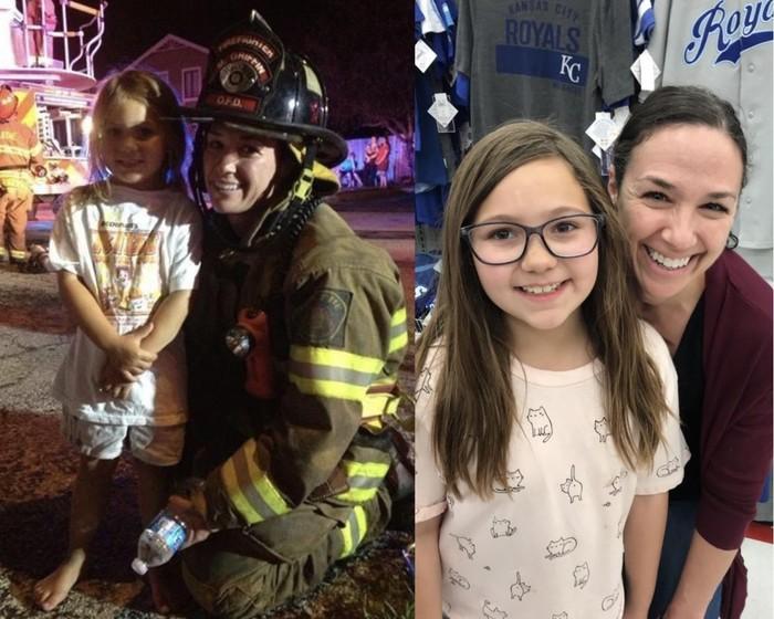 Пожар 6 лет назад, и случайная встреча своей спасательницы вчера вечером