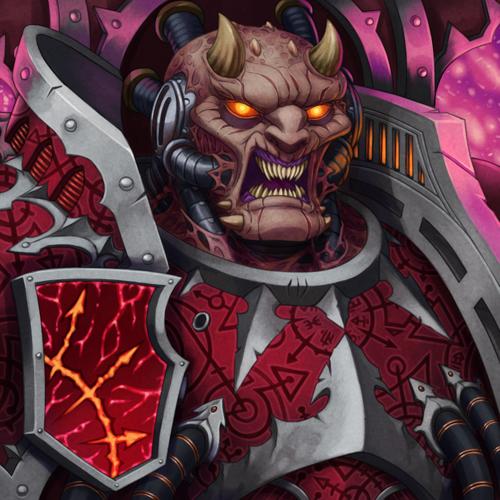 Dark Apostle Wh Art, Warhammer 40k, Chaos Space marines, Word bearers, Dark Apostle