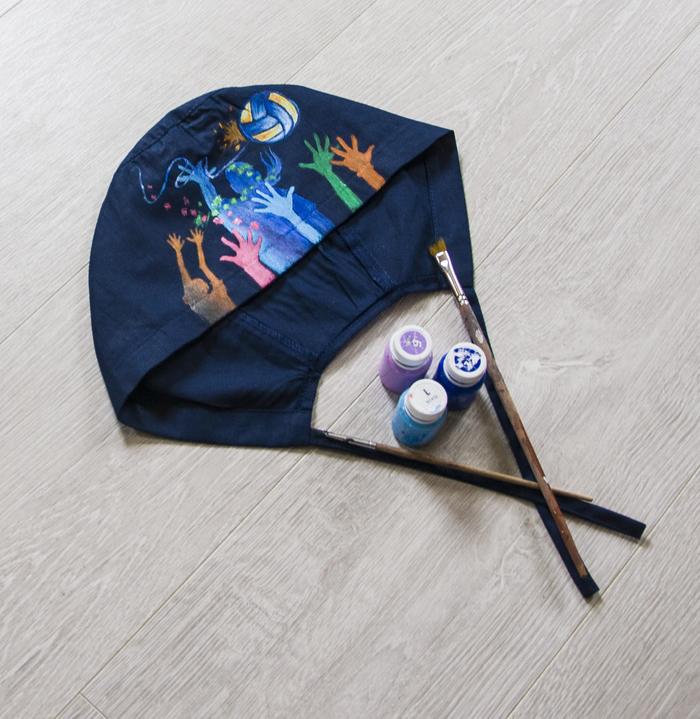 Роспись шапочек для хирургов Шапка, Роспись по ткани, Головной убор, Рисунок, Длиннопост