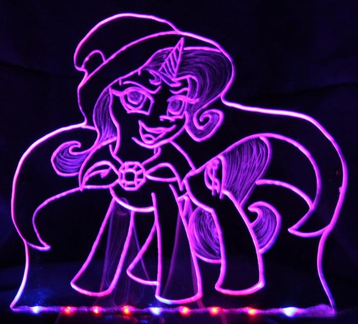 Акрилайты классические. My Little Pony, Крафт, Светодиоды, Гравировка, Lyra Heartstrings, Trixie, Twilight Sparkle, Starlight Glimmer, Длиннопост