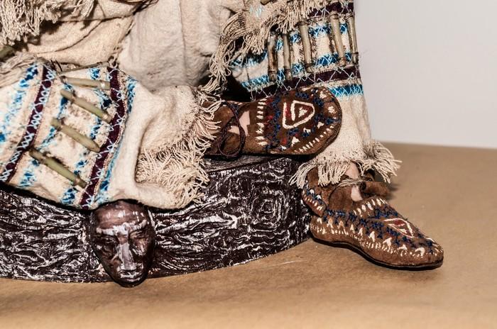 #4 североамериканский шаман Куклы ручной работы, Шаман, Длиннопост