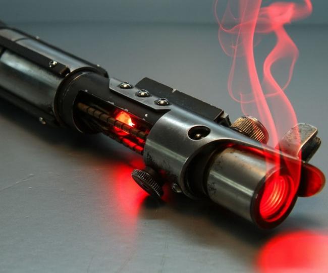 Элегантное оружие из более цивилизованной эпохи Star Wars, Гифка, Длиннопост, Световой меч, Физика