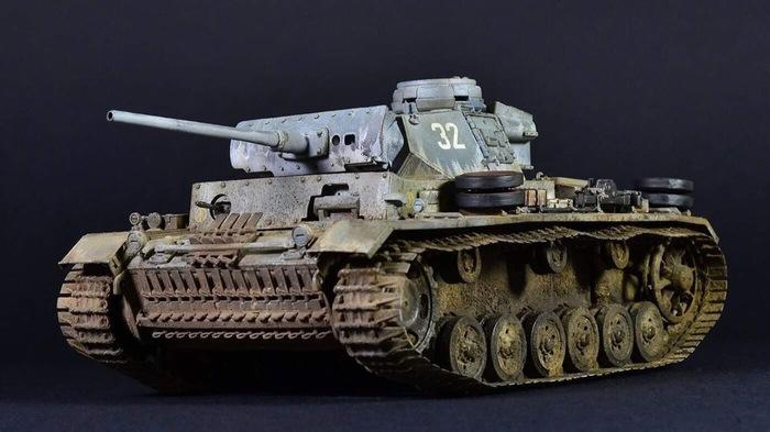 Pz.kpfw III ausf.L Late БТТ, Стендовый моделизм, Моделизм, Танки, Масштабная модель, Длиннопост