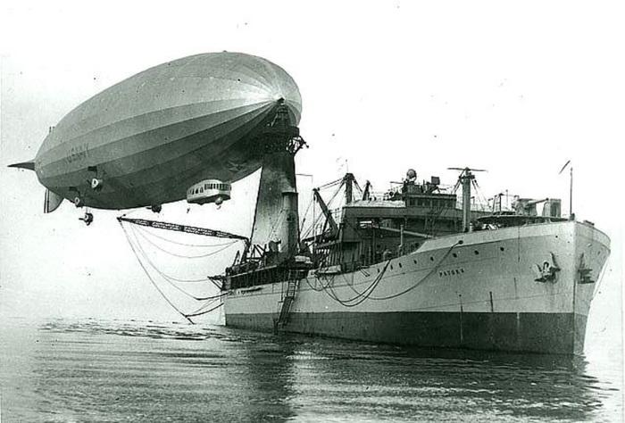 Плавучий дирижабледром USS «Patoka» Флот США, История, Корабль, Военная техника, Длиннопост, Дирижабль