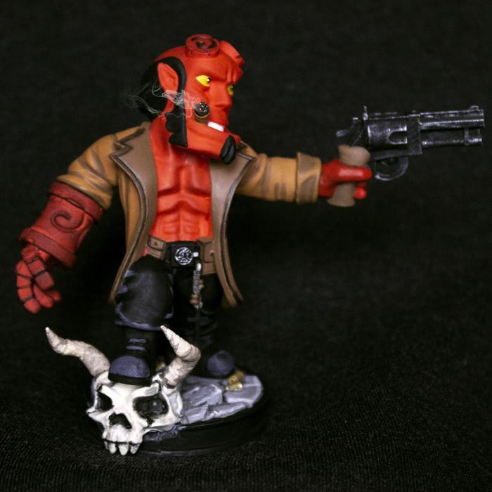 Фигурка Хеллбой Hellboy Хеллбой, Хеллбой2019, Хеллбой 2, 3D печать, Демон, Рукоделие с процессом, Видео, Длиннопост
