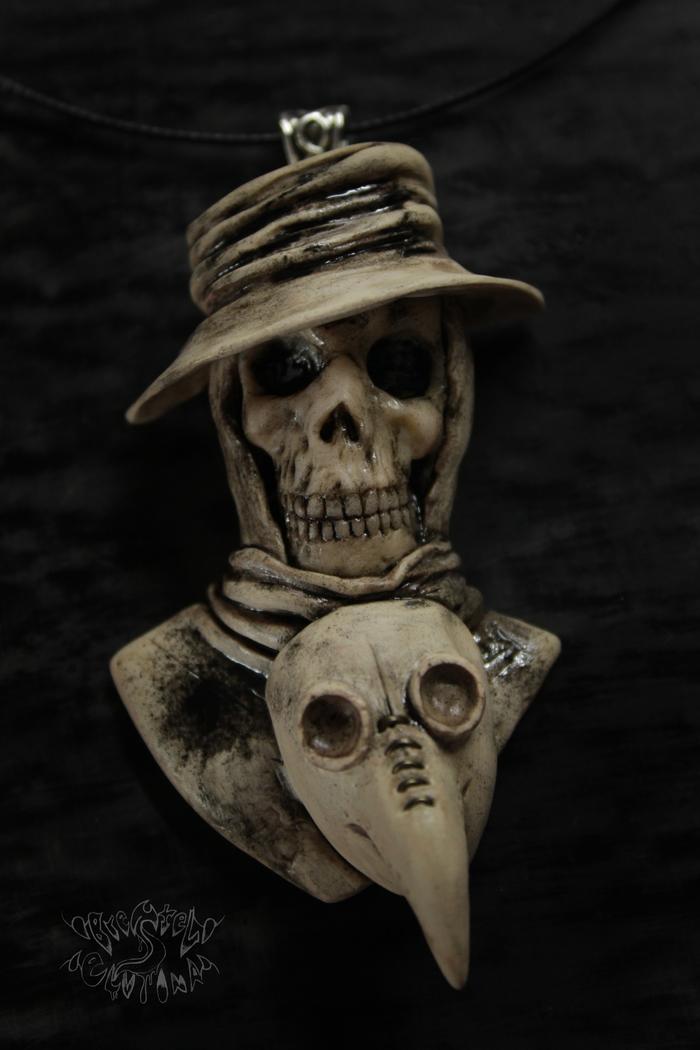 Чумной доктор без маски Полимерная глина, Чумной доктор, Череп, Крипота, Длиннопост