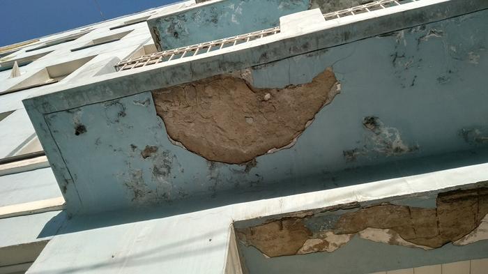Осторожно! Возможно обрушение фасада здания Развалины, Новосибирск, Фасад, Площадь Ленина, Аэрофлот, Длиннопост