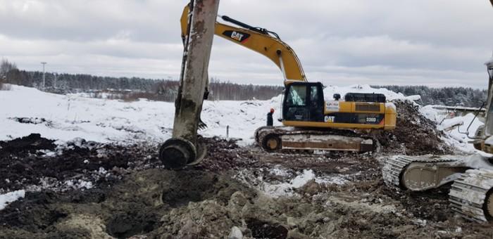 Стабилизация грунта Строительство, Технологии, Длиннопост, Грунт, Экскаватор