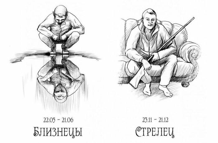БыдлоГоп - гороскоп) Знаки зодиака, Рисунок, Длиннопост