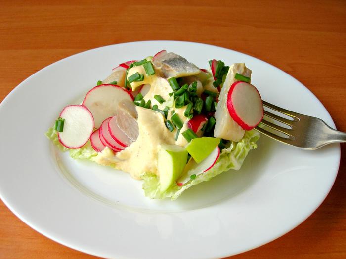Салат «Норвежский» с сельдью, вкусный салат за 5 минут! Салат, Рецепт, Кулинария, Еда, Видео