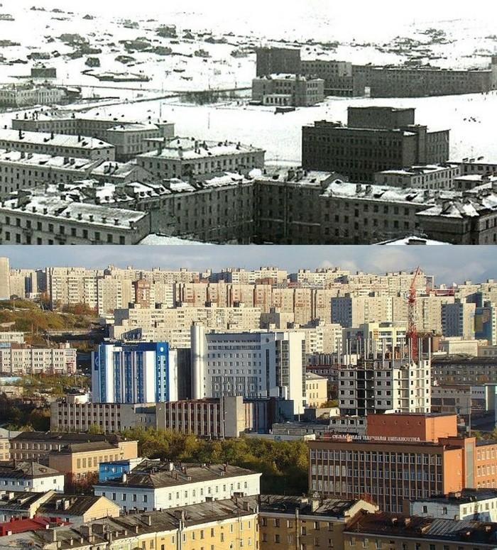 А это Мурманск..) Прогресс, Мурманск, Строительство, Тогда и сейчас
