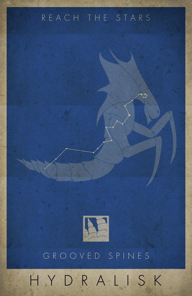 Starcraft retro posters Starcraft, Постер, Терраны, Протоссы, Зерги, Компьютерные игры, Длиннопост