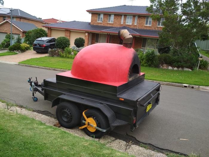 Помпейская печь на колесах Помпейская печь, Прицеп, Австралия