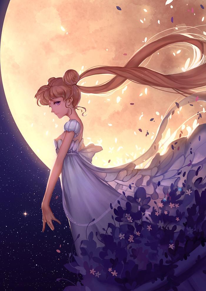 Princess Serenity Anime Art, Аниме, Sailor Moon, Усаги Цукино, Princess Serenity, Луна, Kklaji008, Hanyijie