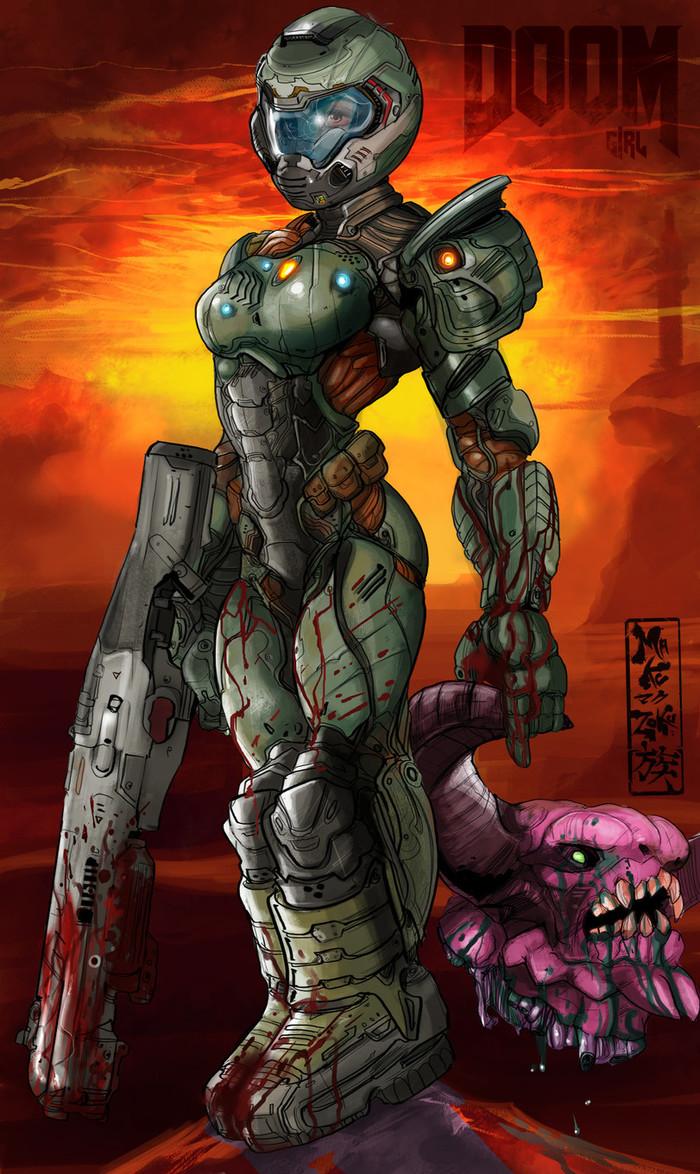 Думгерл Doom, Игры, Правило 63, Автор, Maku Zoku, Длиннопост
