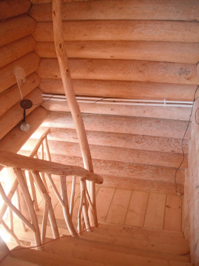 Дикая лестница. Брат сделал своими руками Экодизайн, Сруб, Своими руками, Строительство и ремонт, Работа с деревом, Длиннопост, Рукоделие без процесса
