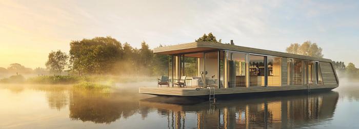 Домик на реке Дизайн, Дом на воде, Solar panels, Хочу такой, Длиннопост