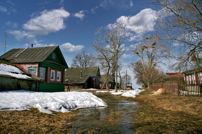 В деревне весной Деревня, Весна, Россия, Природа, Красота, Фотография, Длиннопост