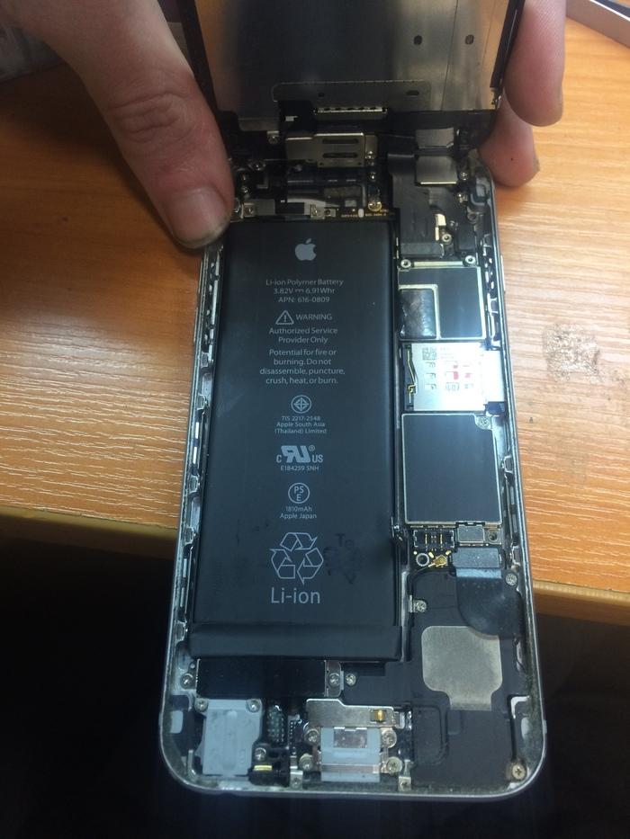 Ошибка 9. Две тонких проволоки, давших вторую жизнь iPhone Iphone, Пайка, Длиннопост