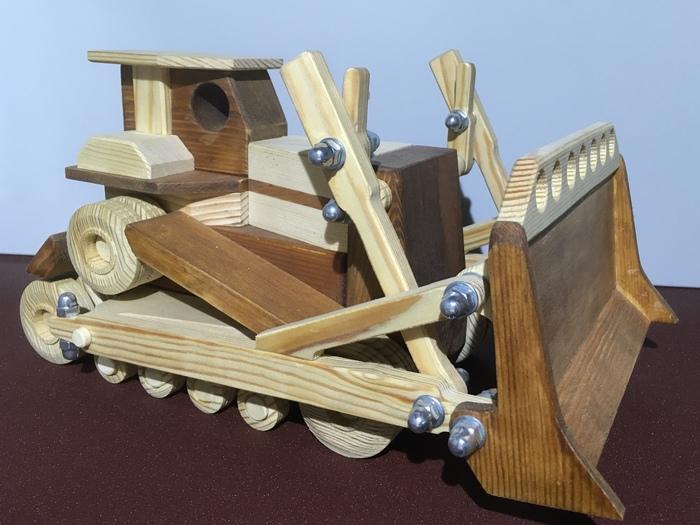 Бульдозер Изделия из дерева, Игрушки, Строительство, Деревянные игрушки, Рукоделие без процесса