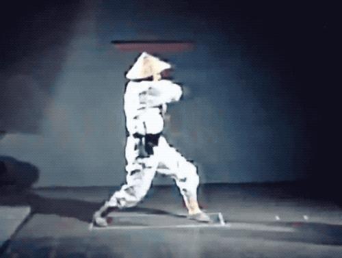 Оригинальные съемки, использованные для анимации героев первой части Мортал Комбат Mortal Kombat, Footage, Компьютерные игры, Гифка, Длиннопост, Футаж, Футажи, Футаж на зелёном фоне