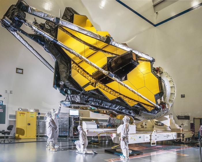 Космический телескоп Джеймса Уэбба готовится к полёту NASA, Космос, Телескоп Джеймса Уэбба, Фотография, Телескоп